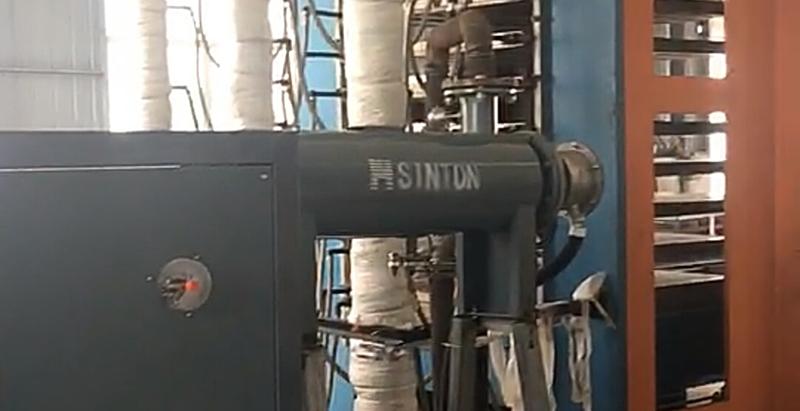 導熱油爐用于壓板機升溫現場
