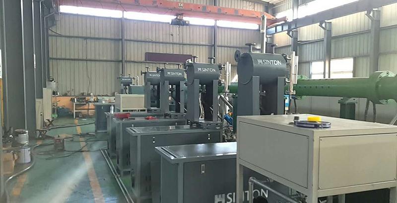 導熱油加熱器用于廠房升溫現場